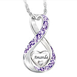 Daughter Always Loved Personalized Diamond Pendant Necklace