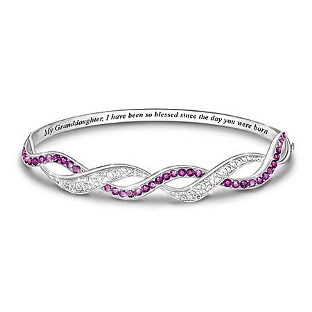 My Precious Granddaughter Personalized Birthstone Bracelet – Personalized Jewelry