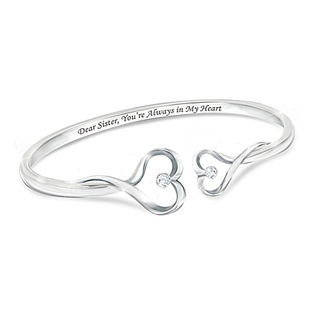 Sisters Forever Heart-Shaped Bracelet