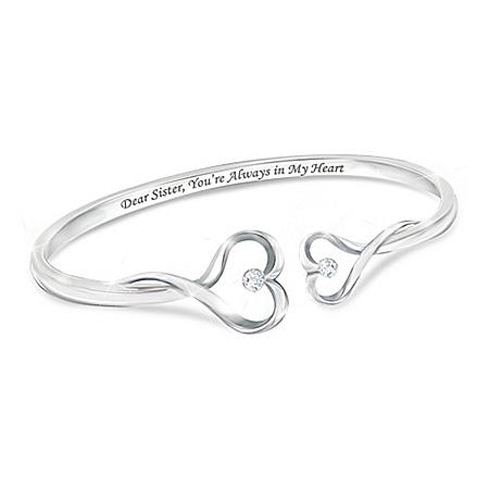 Sisters Forever Heart-Shaped Bracelet