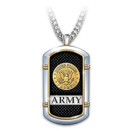 Strength Of The Army 24K Gold-Plated Necklace