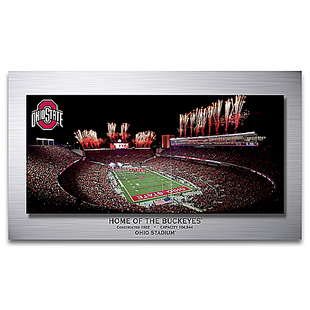 Ohio Stadium: Home Of The Buckeyes Gallery Metal Print Wall Decor