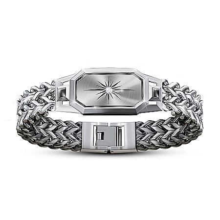 Dream Big, My Son Flex-Chain Bracelet With White Sapphire