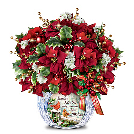 Dona Gelsinger Romantic Illuminated Personalized Centerpiece