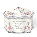 My Granddaughter Forever Personalized Heirloom Porcelain Music Box