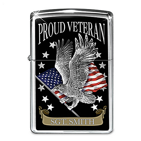 Proud Veteran Personalized Zippo® Lighter With Gift Box