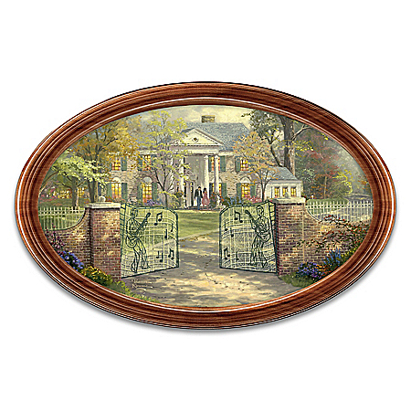 Thomas Kinkade Graceland Elvis Presley Inspired Collector Plate