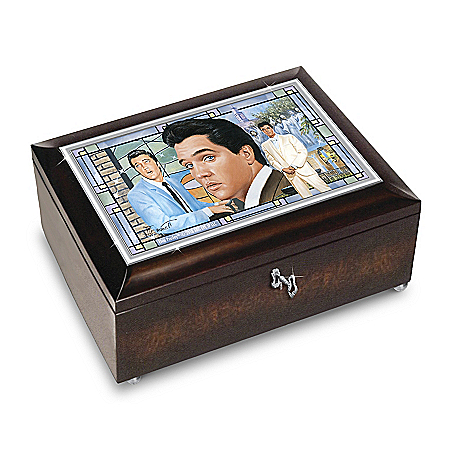 Bruce Emmett Elvis Presley Amazing Grace Handcrafted Music Box