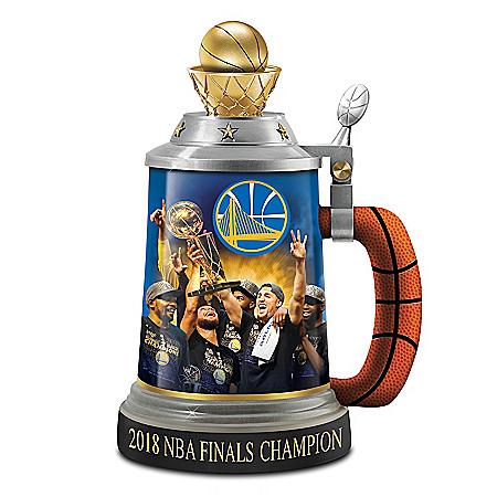 Golden State Warriors 2018 NBA Finals Champion Porcelain Stein