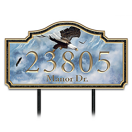 Ted Blaylock Eagle Majesty Personalized Outdoor Address Sign