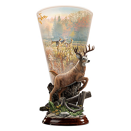 Greg Alexander Magic In The Meadow Deer-Themed Torchiere Sculpture