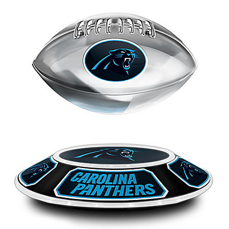 Carolina Panthers Levitating NFL Football