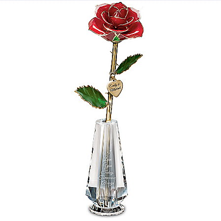 I Love You Today, Tomorrow, Always Real Rose Centerpiece