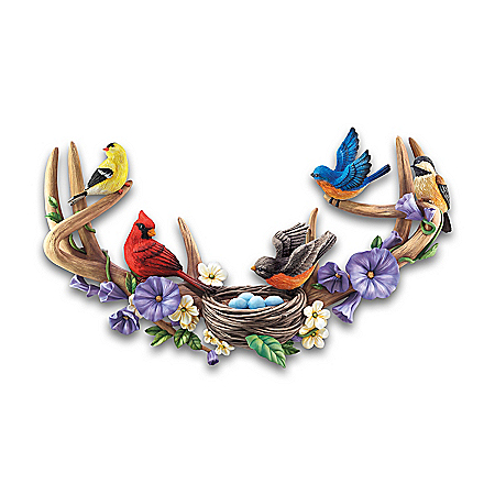 Songbird Gathering Hand-Painted Fully Dimensional Wall Decor