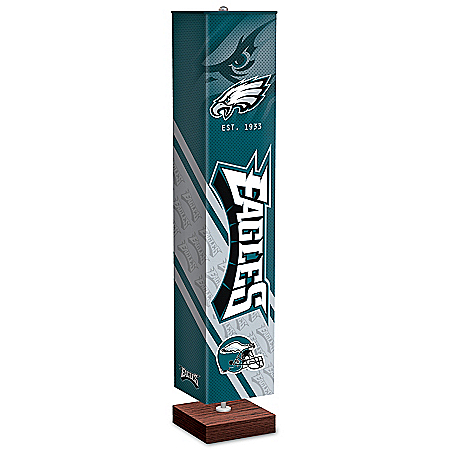 Philadelphia Eagles NFL Floor Lamp With Foot Pedal Switch