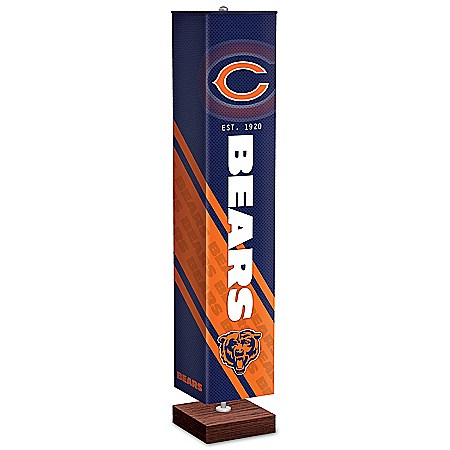Chicago Bears NFL Floor Lamp With Foot Pedal Switch
