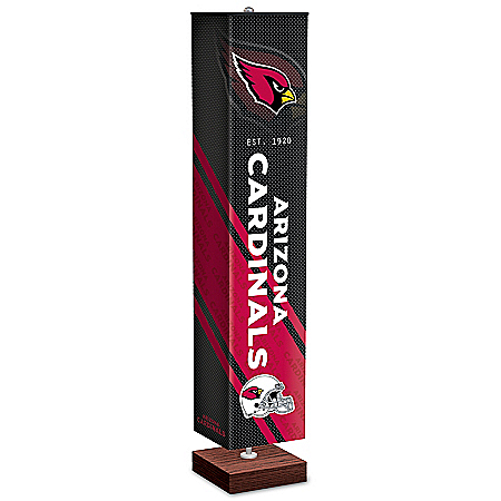 Arizona Cardinals NFL Floor Lamp With Foot Pedal Switch