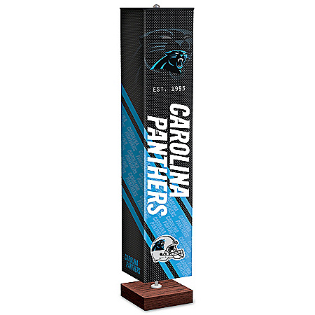 Carolina Panthers NFL Floor Lamp With Foot Pedal Switch