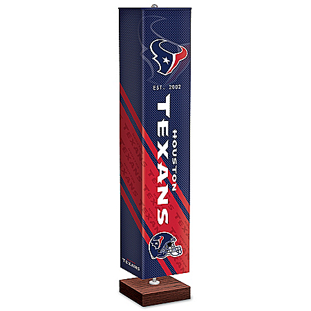 Houston Texans NFL Floor Lamp With Foot Pedal Switch