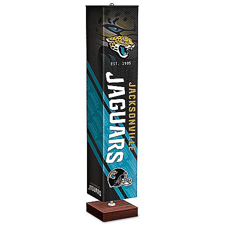 Jacksonville Jaguars NFL Floor Lamp With Foot Pedal Switch