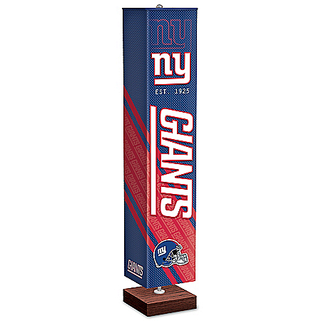 New York Giants NFL Floor Lamp With Foot Pedal Switch