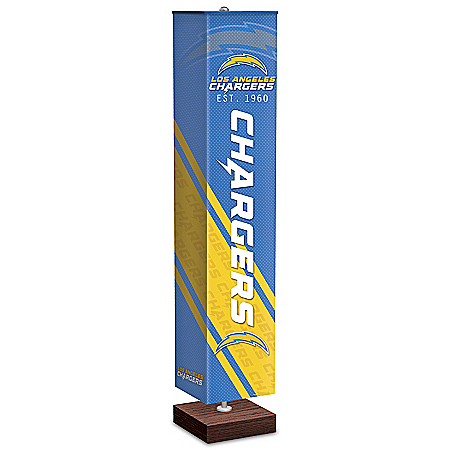 Los Angeles Chargers NFL Floor Lamp With Foot Pedal Switch
