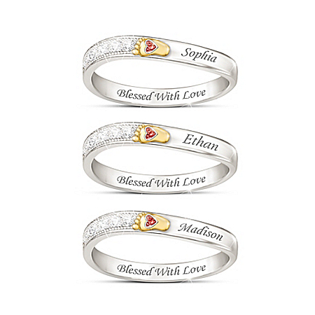 Love At First Sight Women's Personalized Birthstone Ring – Personalized Jewelry