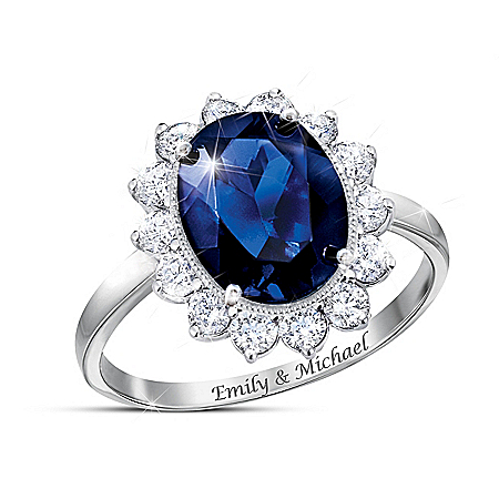 Royally Yours Women's Personalized Royal Family Inspired Diamonesk Ring – Personalized Jewelry