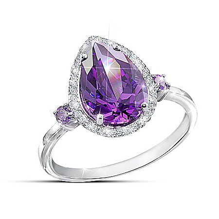 Purple Passion Diamonesk Simulated Amethyst Fashion Ring