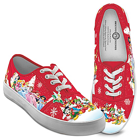 Disney Warmhearted Greetings Canvas Shoes With Holiday Art