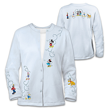 Forever Disney Women's Cardigan With Embroidered Artwork
