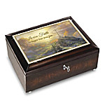 Thomas Kinkade Let Your Faith Be Bigger Than Your Fear Music Box