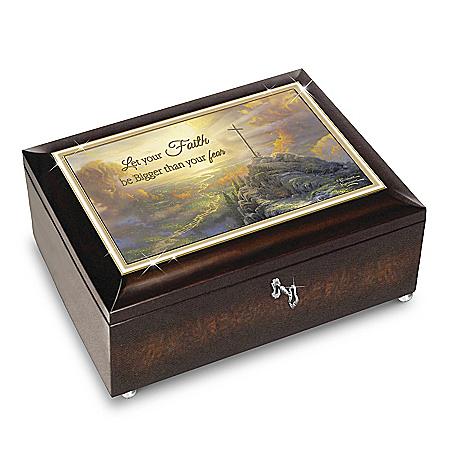 Thomas Kinkade Let Your Faith Be Bigger Than Your Fear Music Box