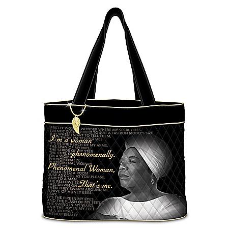 Maya Angelou Quilted Tote Bag