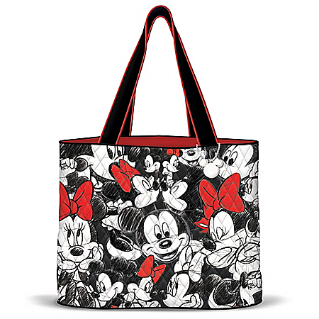 Disney's Mickey Mouse & Minnie Mouse Quilted Tote Bag