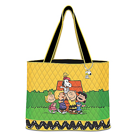 Hooray For Friends! PEANUTS Quilted Tote Bag