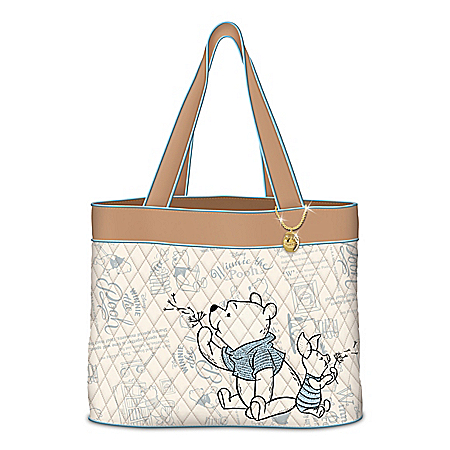Disney Winnie The Pooh A Classic Tale Quilted Tote Bag
