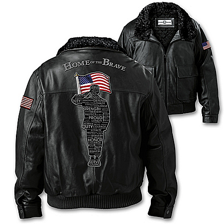Salute To Freedom Men's Leather Aviator Bomber Jacket