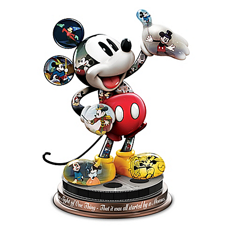 Disney Mickey Mouse's Magical Moments Sculpture With Quote