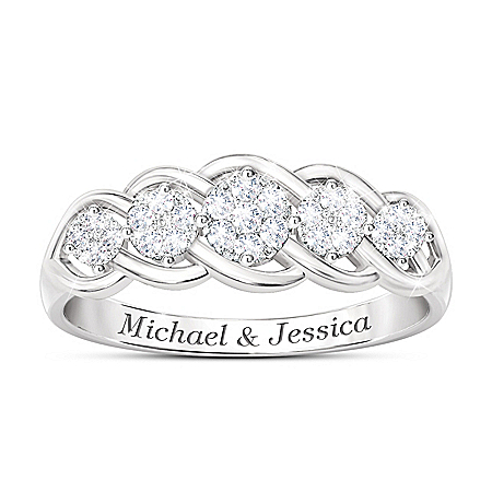 Love Of A Lifetime Women's Personalized Diamond Anniversary Ring – Personalized Jewelry