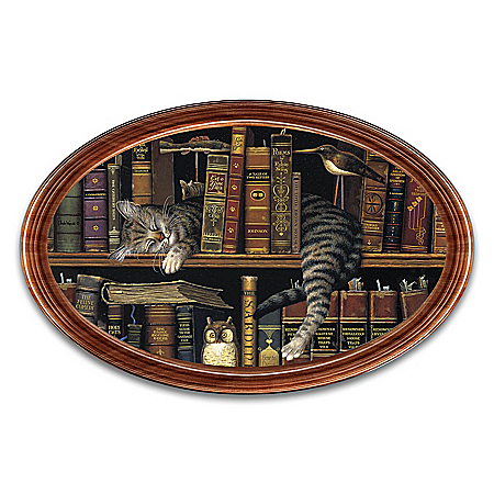 Charles Wysocki Classic Tails Personalized Framed Oval Collector Plate