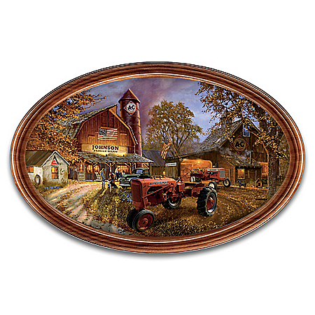 Dave Barnhouse Allis-Chalmers Personalized Framed Collector Plate