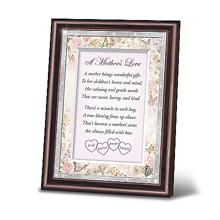 A Mother's Love Personalized Poem With Mahogany-Finished Wooden Frame