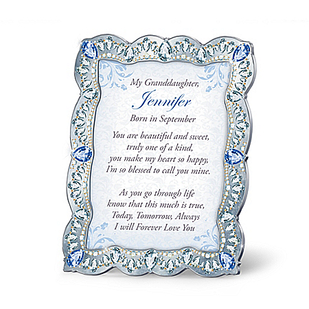 Granddaughter, You Are A Treasure Personalized Framed Poem