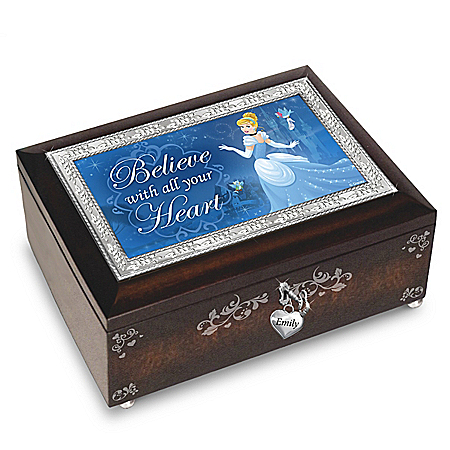 Disney Princess Personalized Heirloom Wooden Music Box