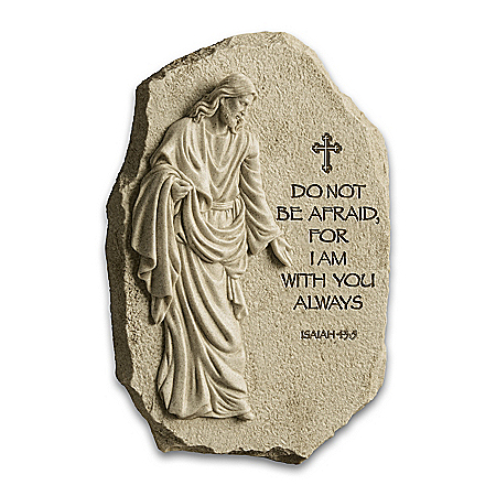 I Am With You Always Religious Plaque Sculpture
