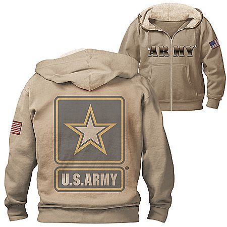 Military Pride U.S. Army Hoodie With Sherpa-Lined Hood
