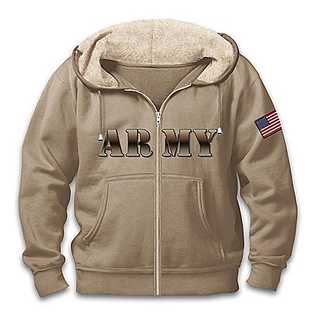 Military Pride U.S. Army Hoodie With Sherpa-Lined Hood