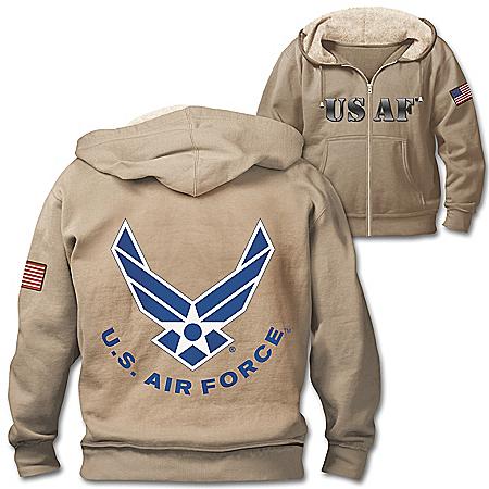 Military Pride U.S. Air Force Hoodie With Sherpa-Lined Hood