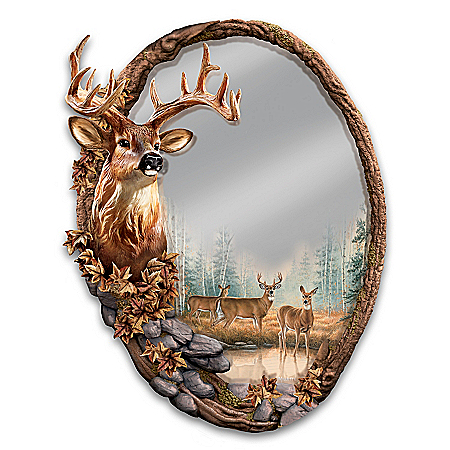 Rosemary Millette Reflections Of The Forest Wall Mirror